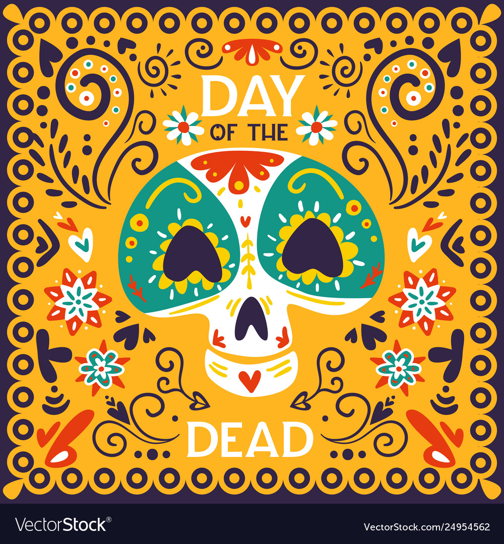 Day dead mexico poster