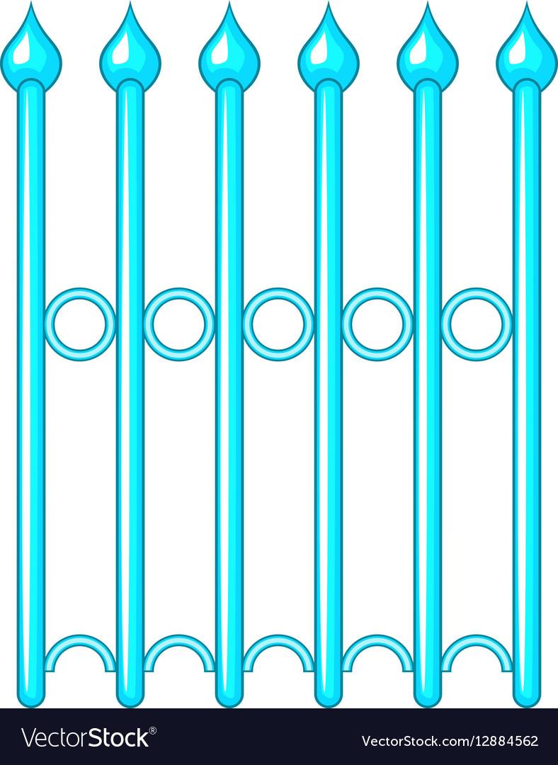 Decorative iron fence icon cartoon style