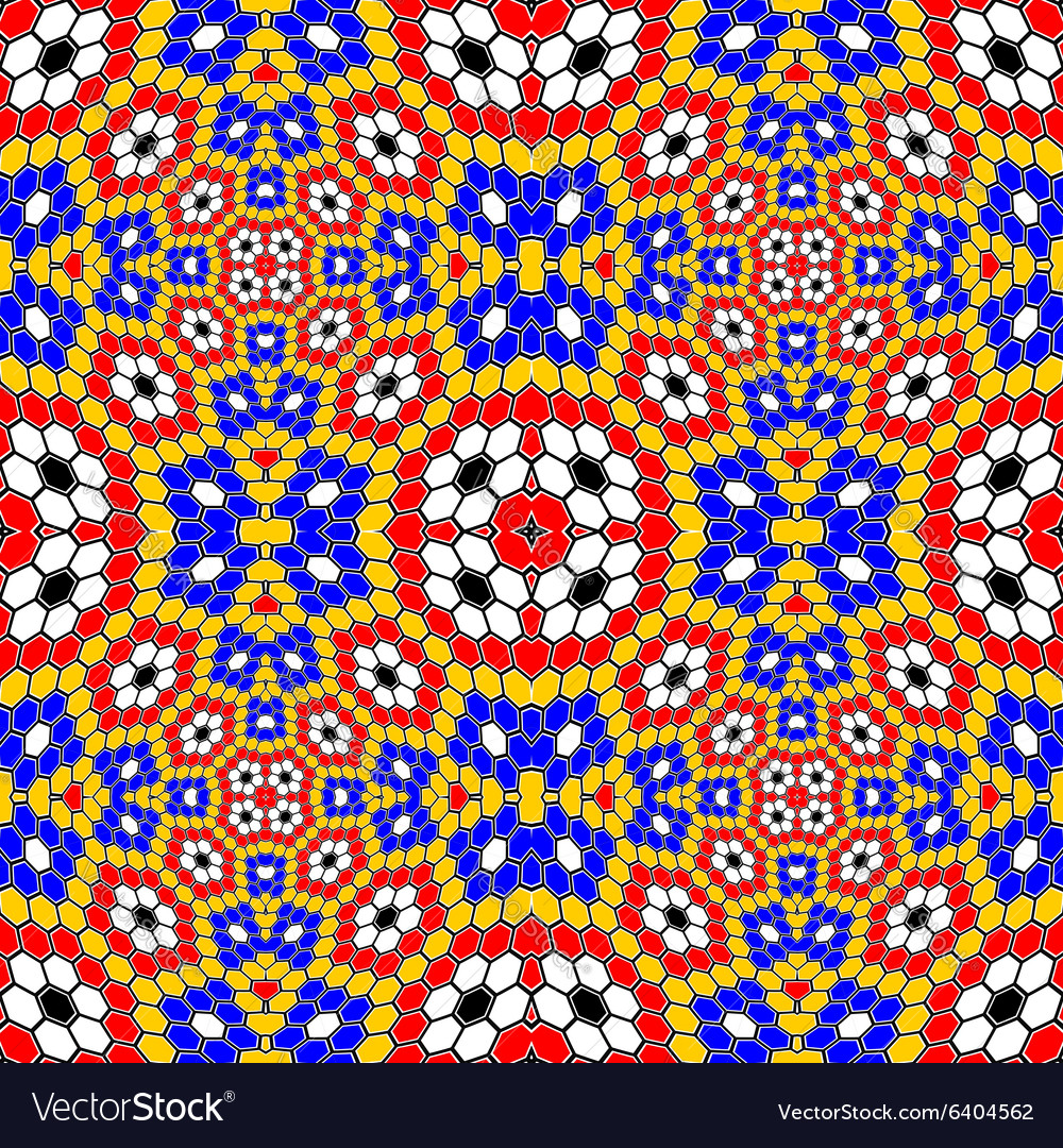 Design seamless colorful mosaic pattern vector image