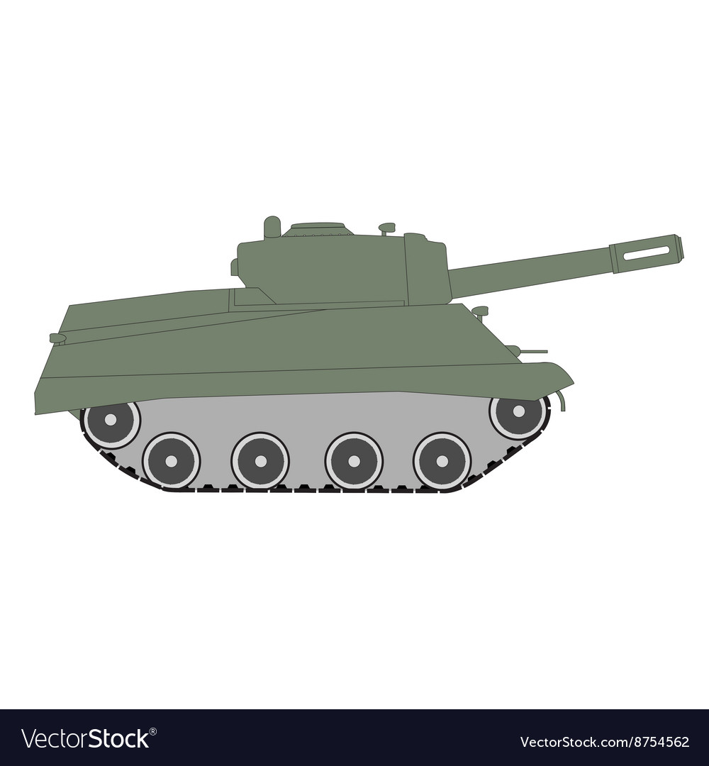 Figure toy green tracked tank