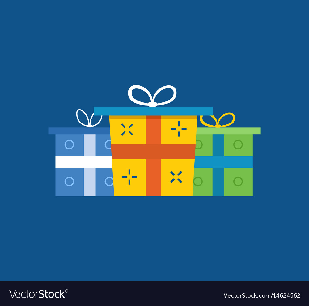 Gift sets boxes christmas gifts surprises Vector Image