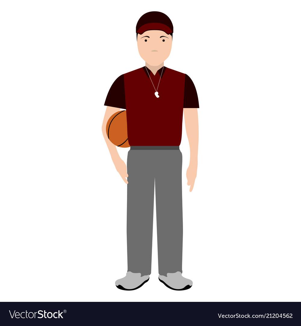 Isolated Physical Education Teacher Avatar Vector Image