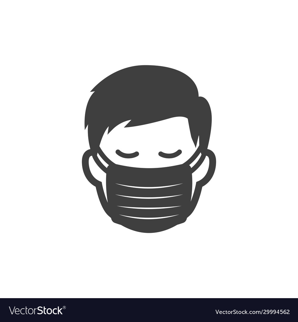 Men with protection mask icon image
