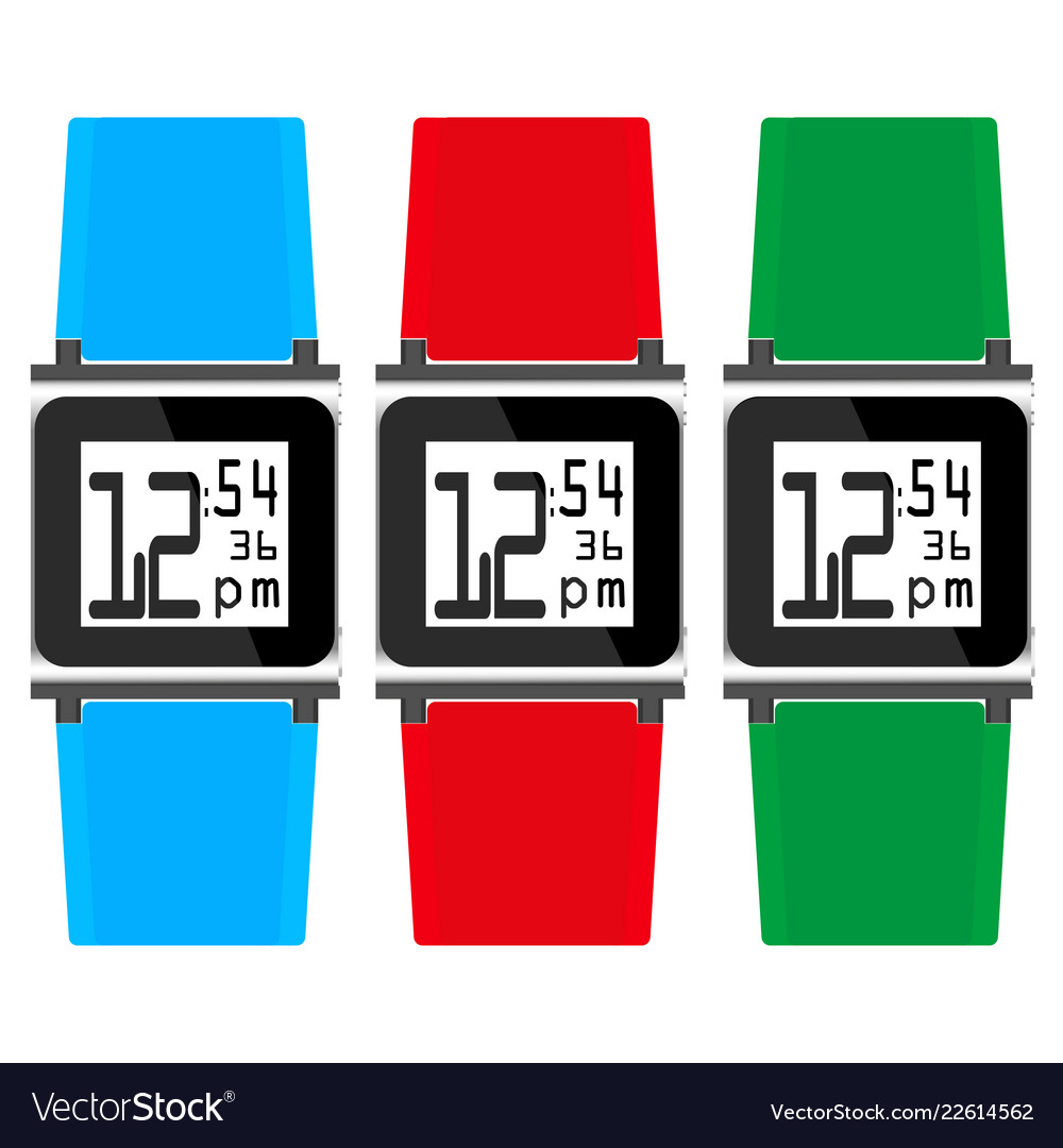 Set hours with colored straps