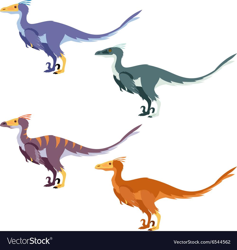 Set of raptors vector image