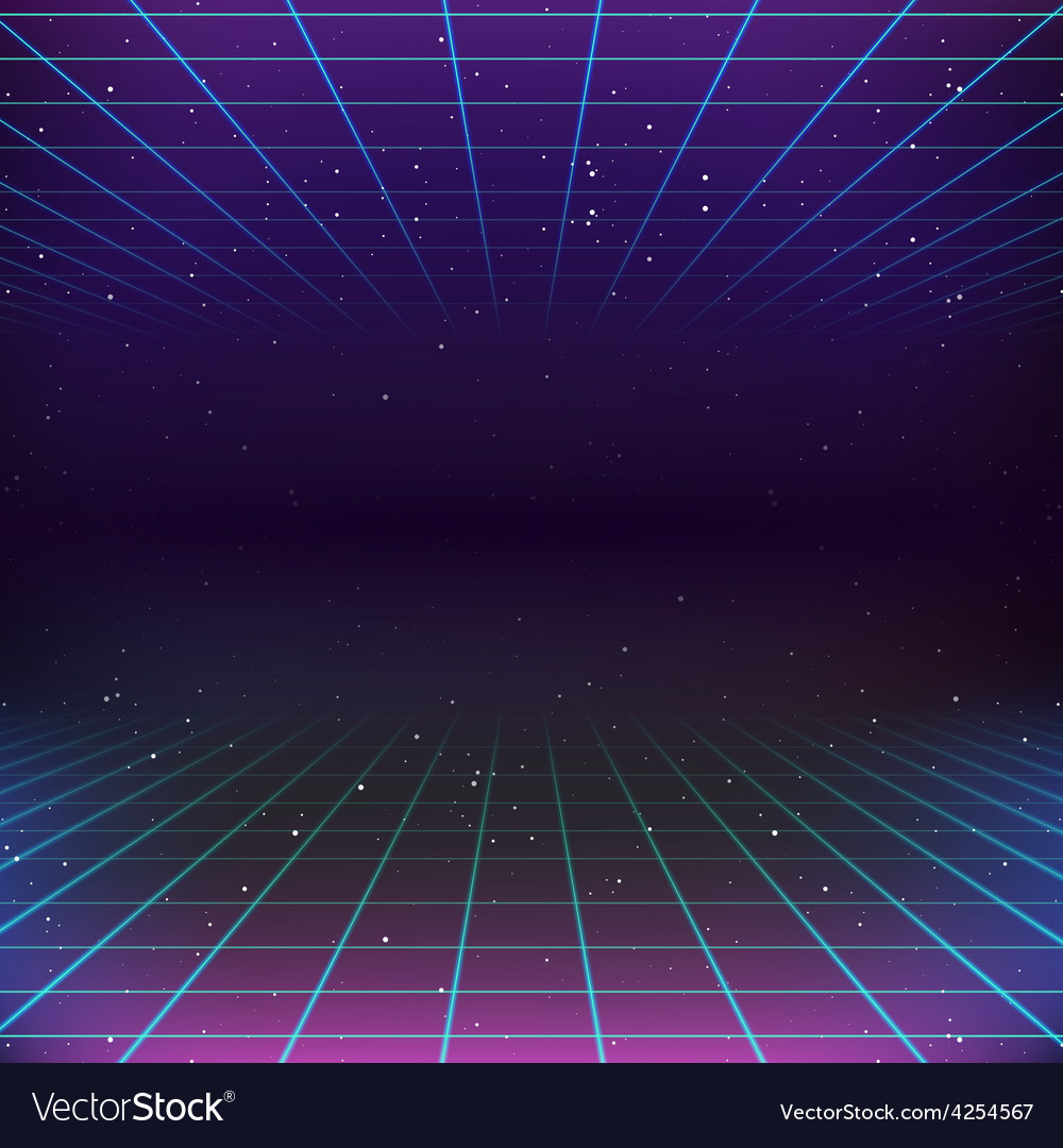 80s retro sci fi background royalty free vector image