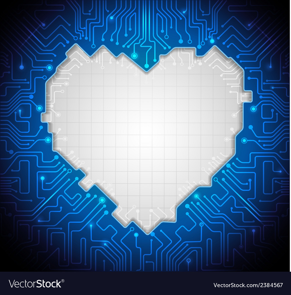 Abstract technology with circuit lines vector image