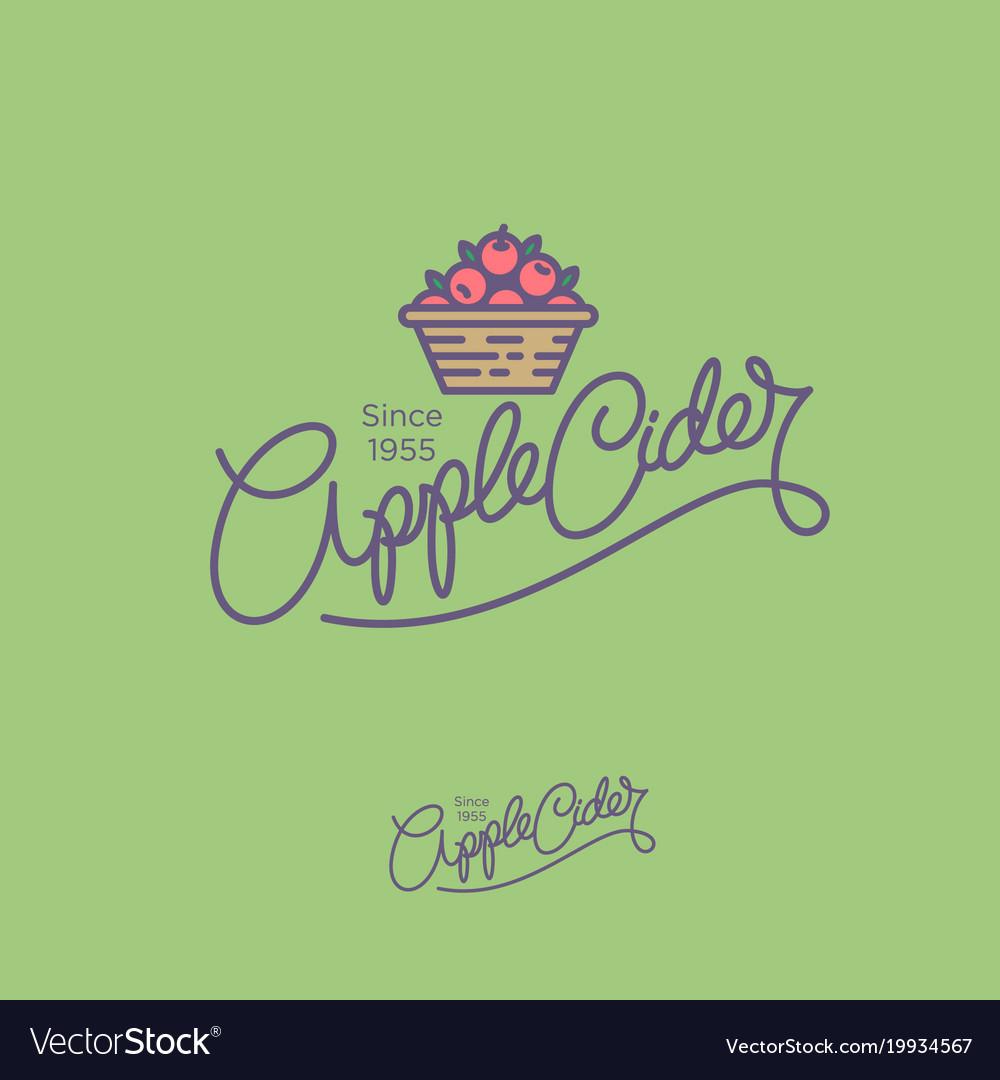 Apple cider logo hand lettering
