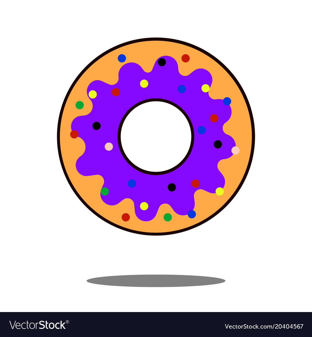 Donut icon flat isolated symbol on shop topic