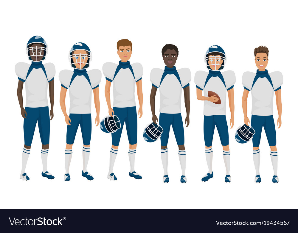 Flat school american football young guys