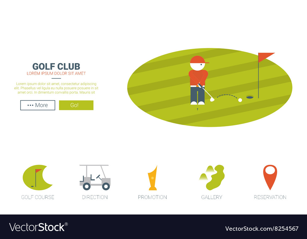 Golf club website concept