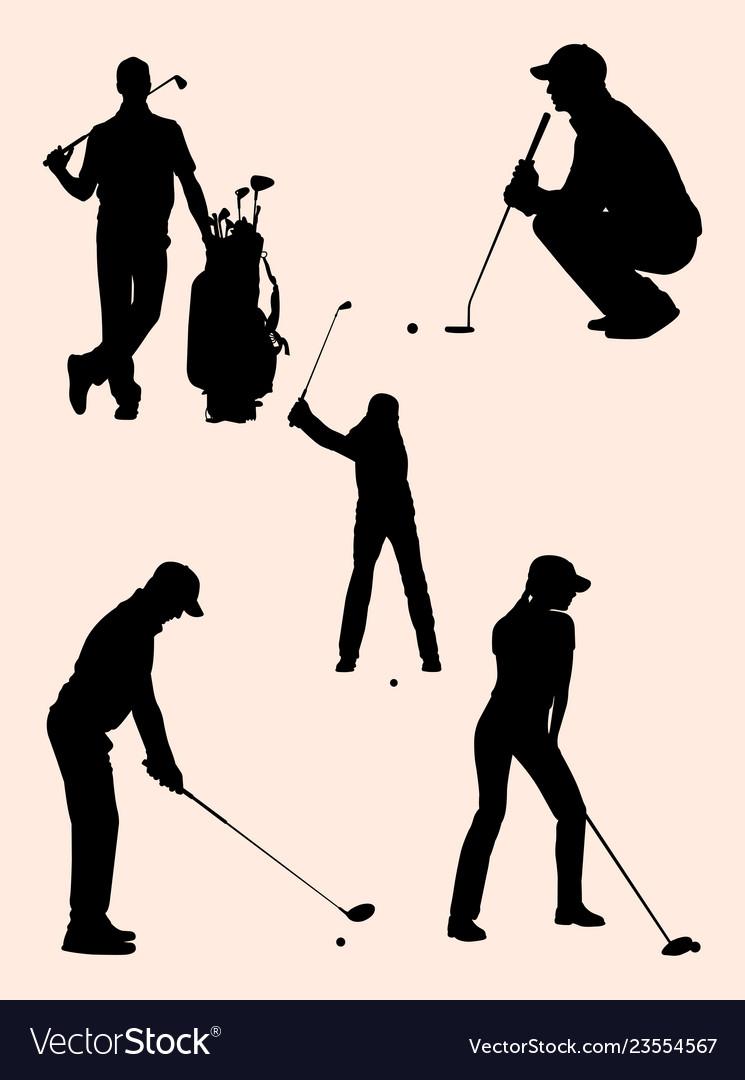 Golfer detail silhouette 03
