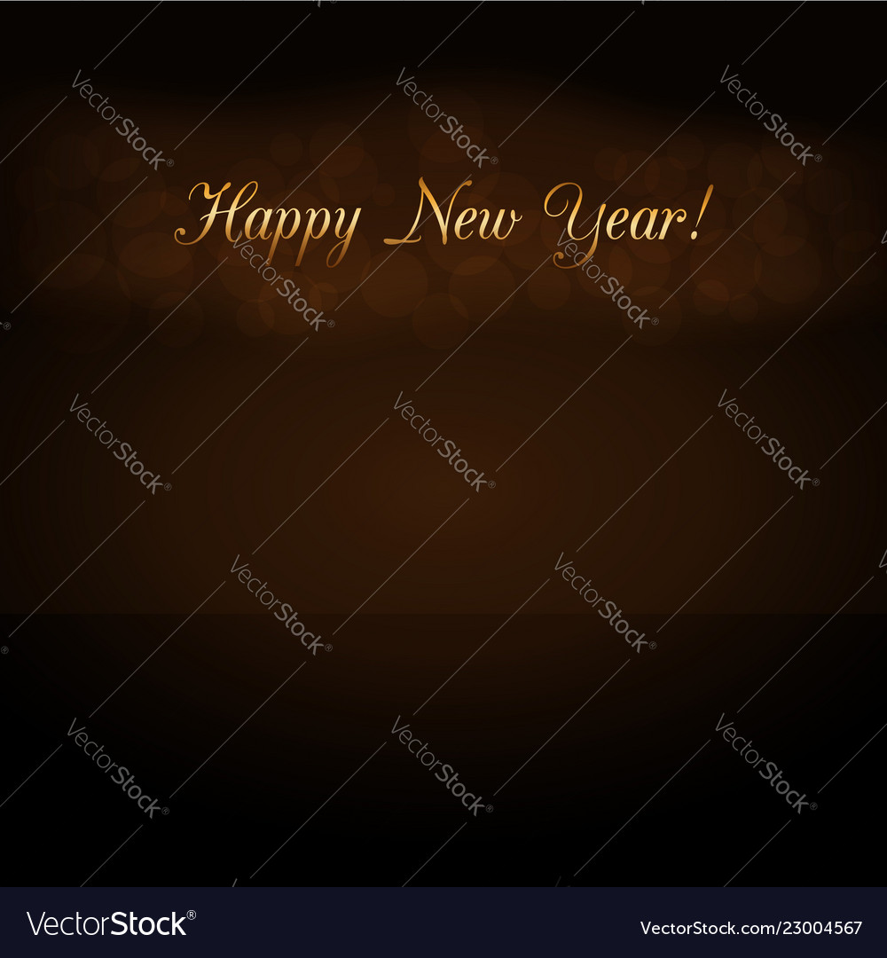 Happy new year background golden text for card