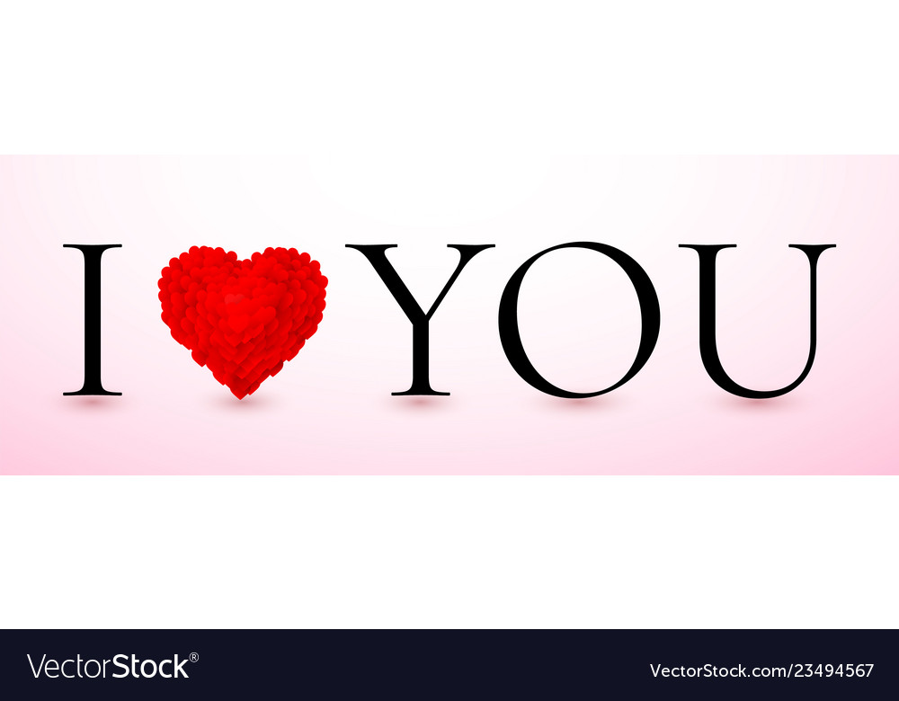 I love you red valentines heart valentines