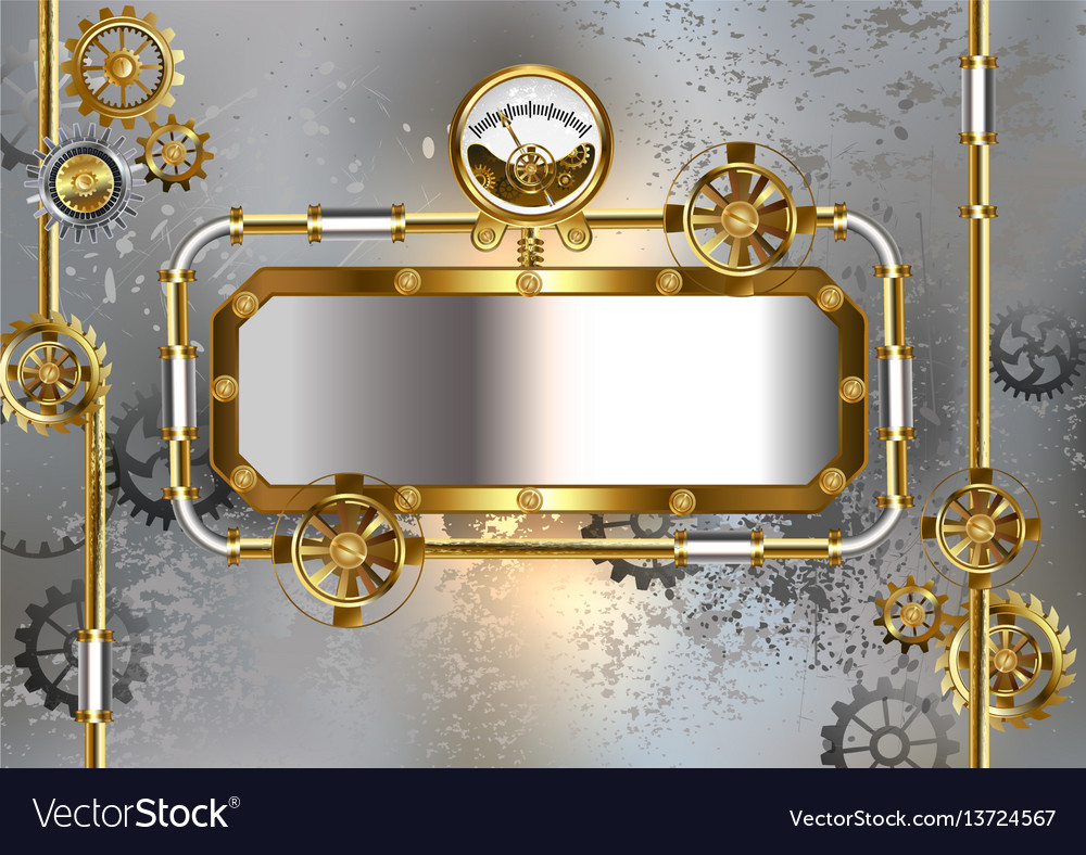 Industrial banner with manometer vector image