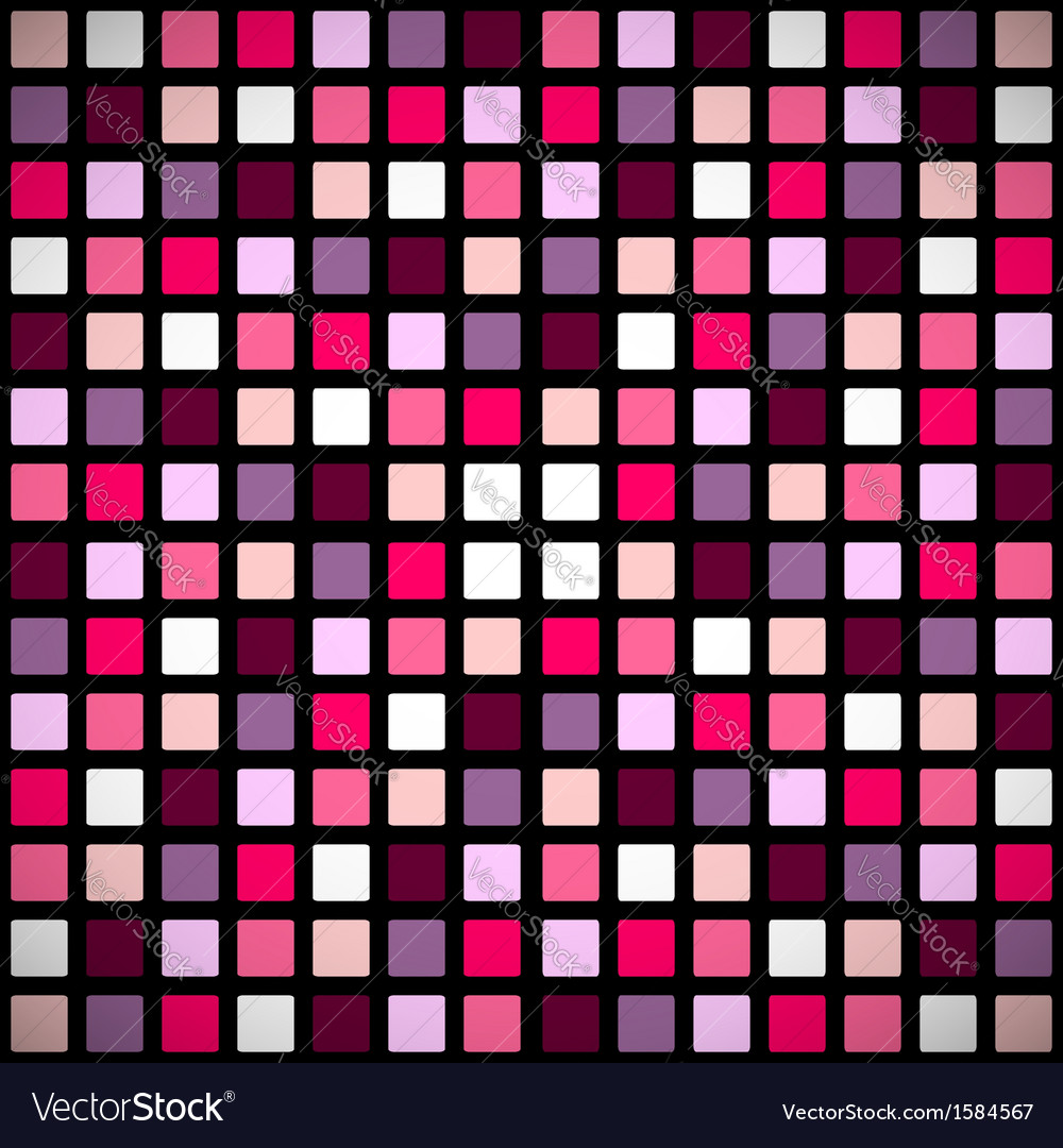 Pink stained-glass window pattern