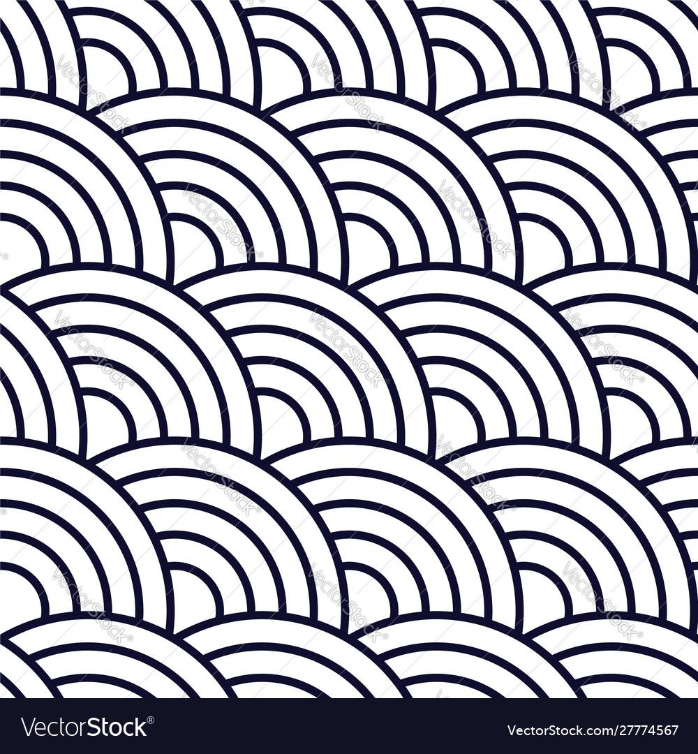 Seamless geometric pattern with circles background