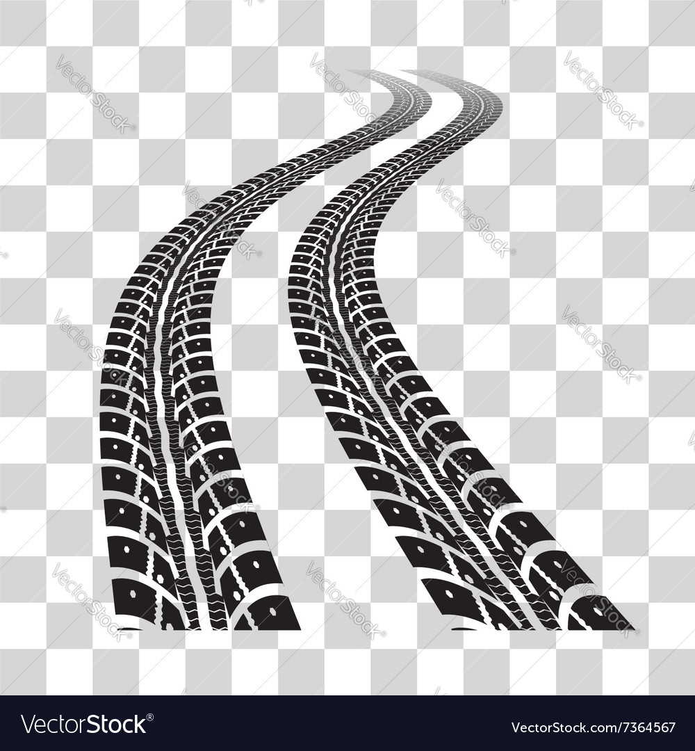 tire tracks royalty free vector image vectorstock rh vectorstock com tire track vector art free tire track vector art