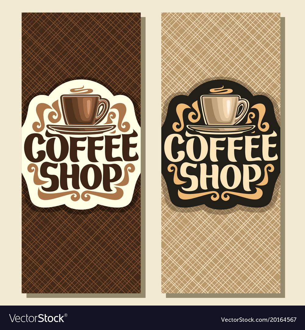 Vertical banners for coffee shop