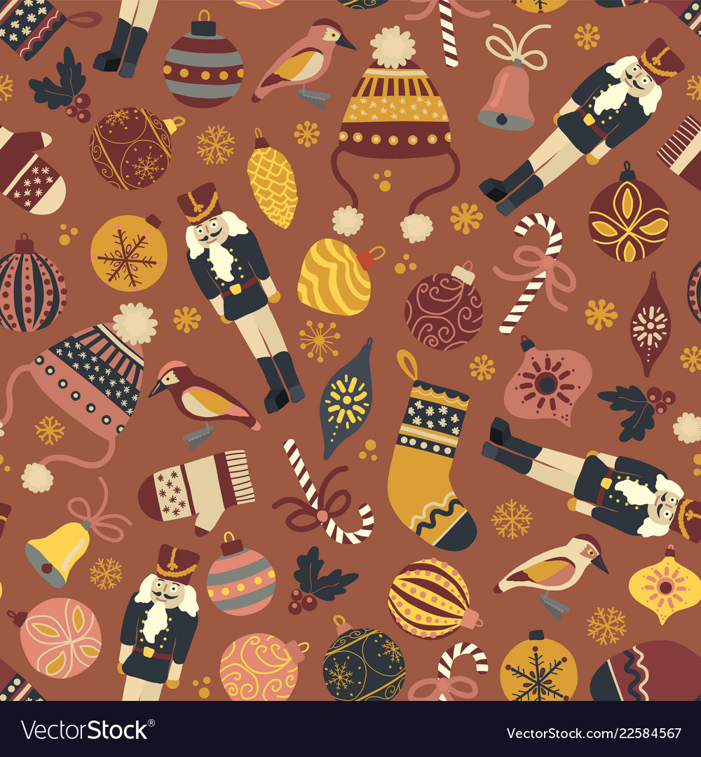 Vintage christmas seamless pattern tile