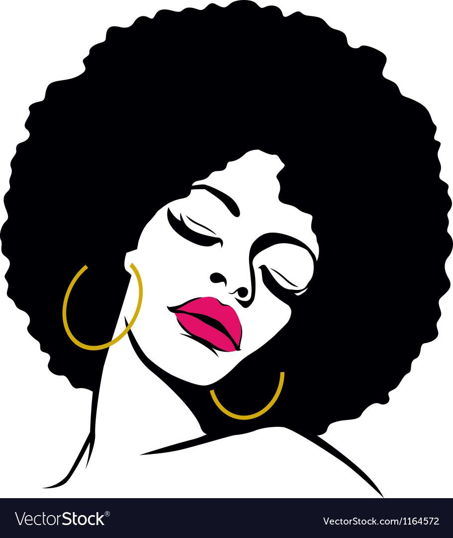 afro woman royalty free vector image vectorstock