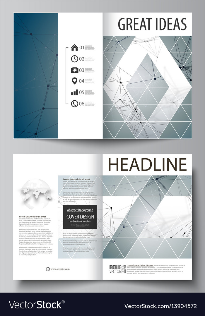 Business templates for bi fold brochure magazine