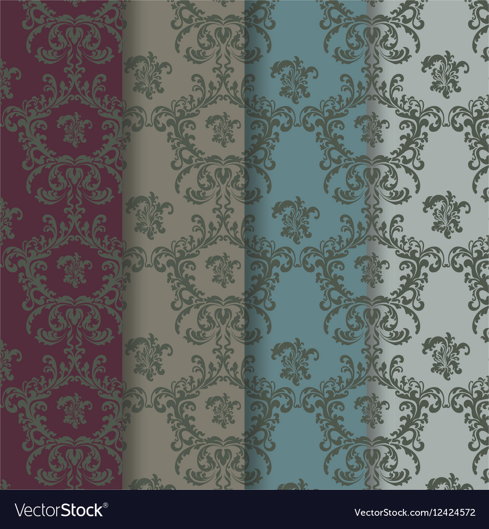 Classic Vintage Ornaments Pattern vector image