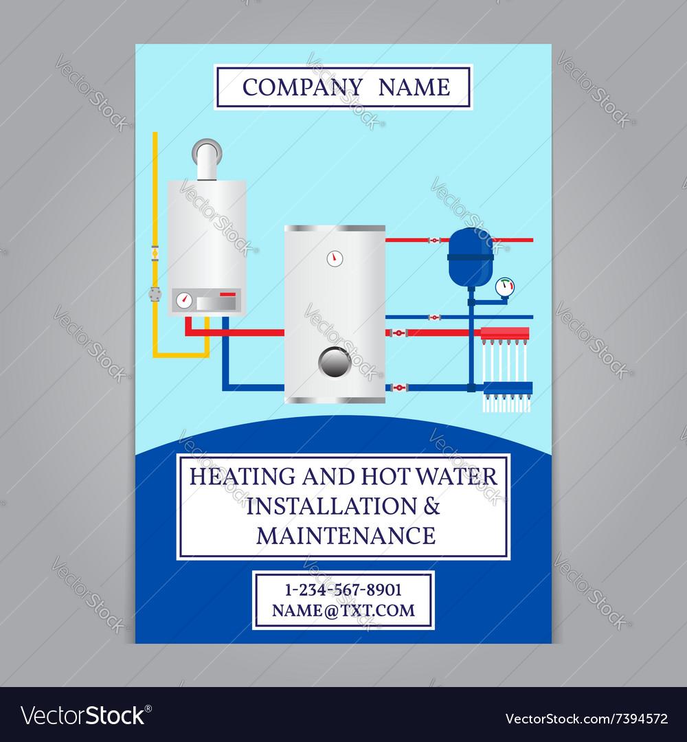 Corporate identity template design Boiler installa