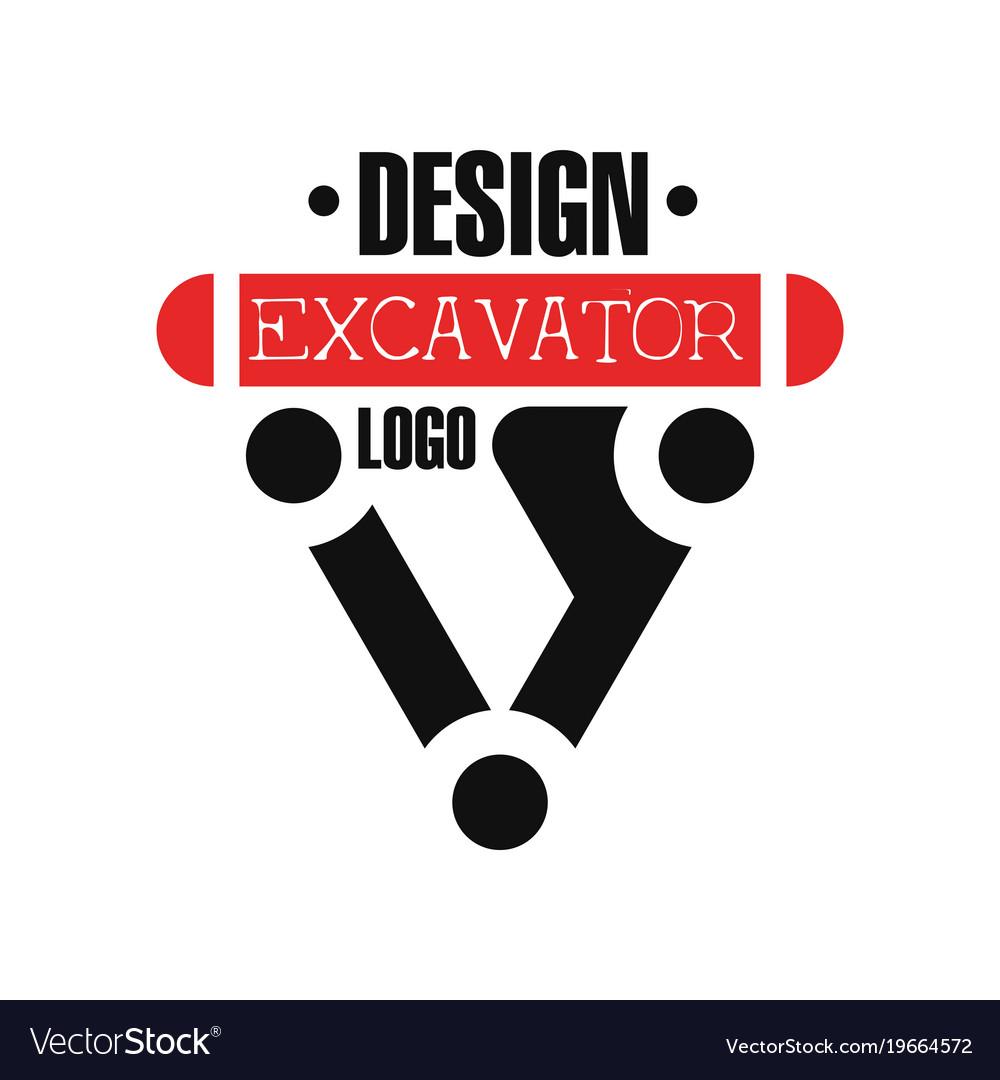 Excavator logo backhoe service label