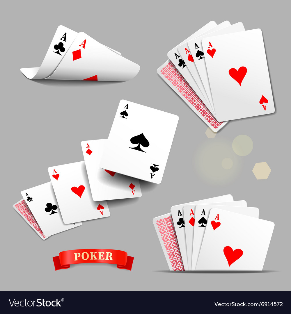 Playing cards Four aces playing cards vector image