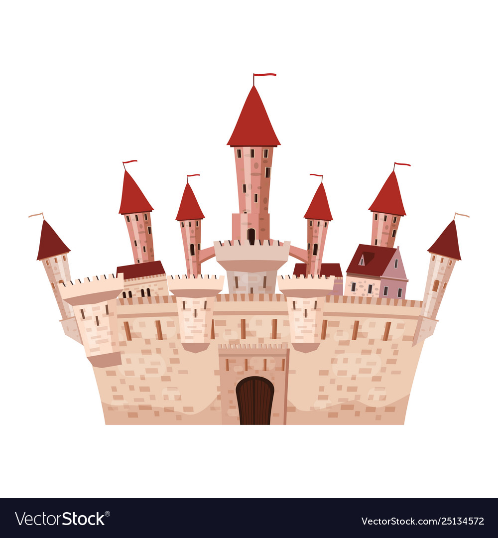 Princess castle is a fairy tale architecture of