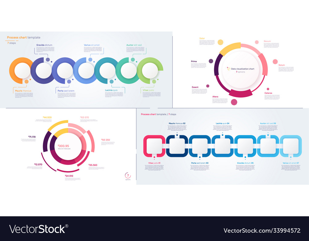 Process and circle chart designs