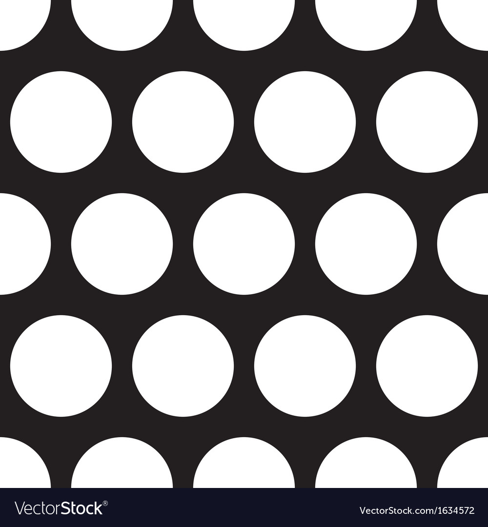 Seamless dark pattern with big white polka dots vector image