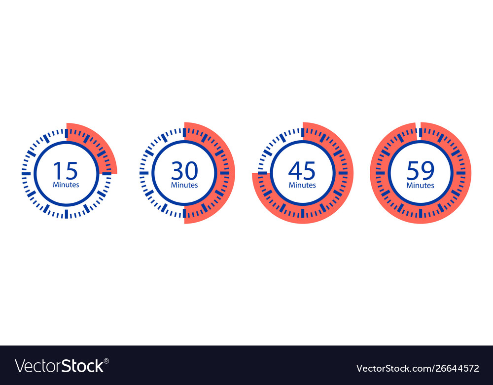 Stopwatch icons timer isolated on white
