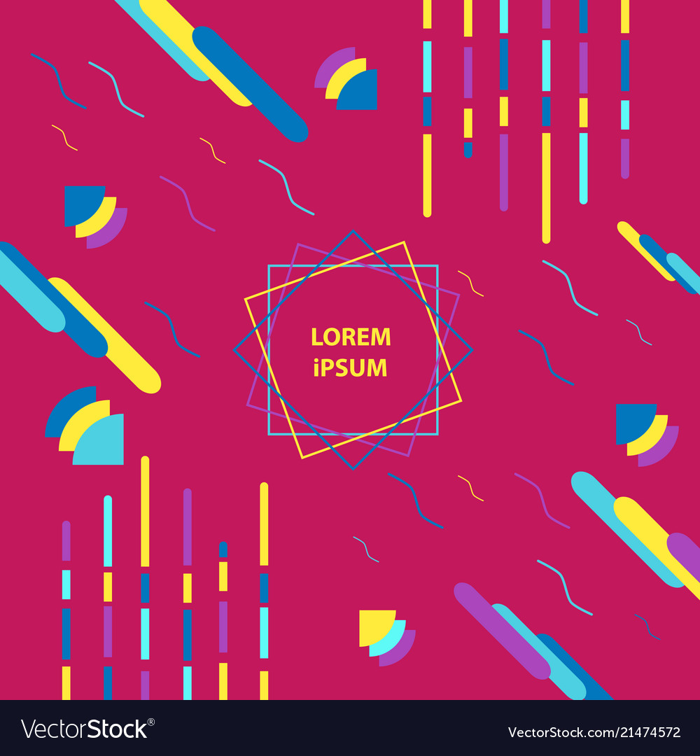 Trendy geometric abstract design poster