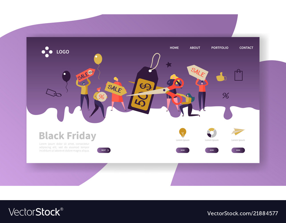Black friday landing page template discount