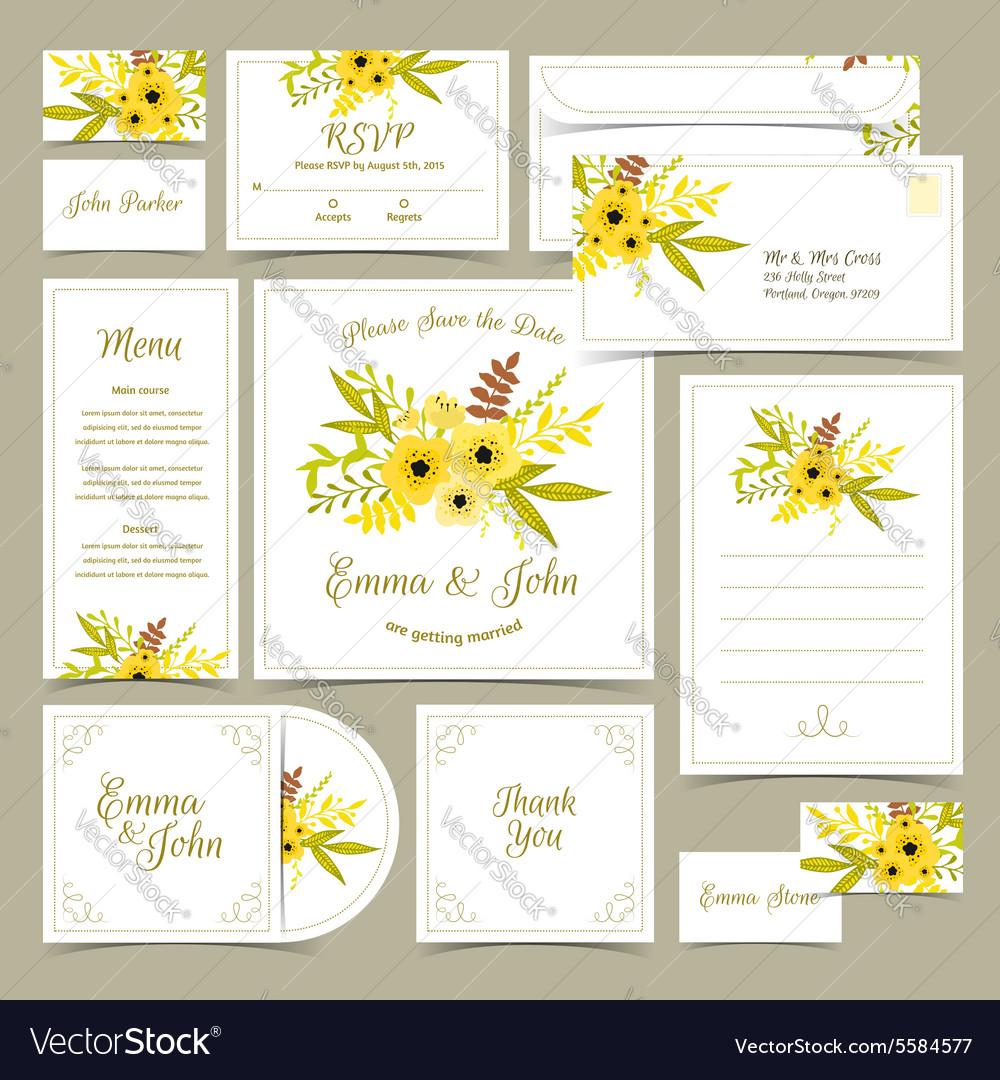 Collection wedding invitations