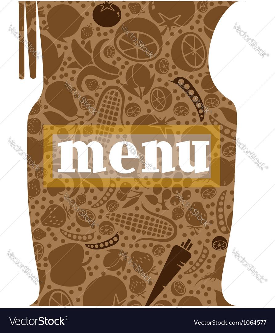 Fork and spoon menu vector image