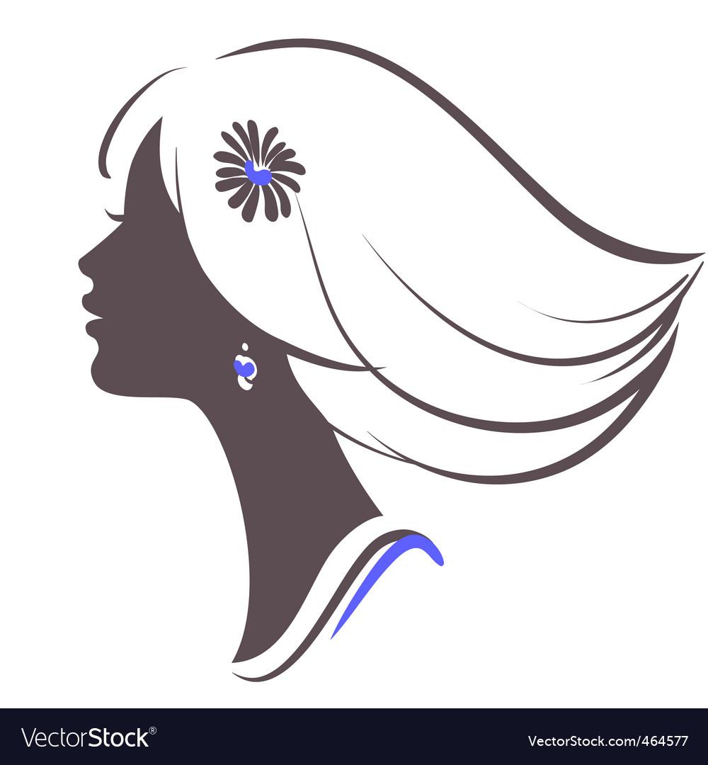 girl face royalty free vector image vectorstock rh vectorstock com vector girl scout logo victor girls lacrosse