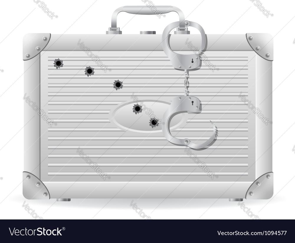 Metallic briefcase 03 vector image