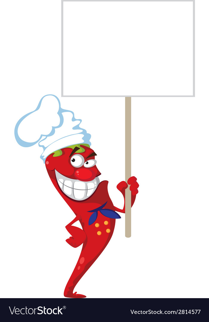 Pepper cook with blank sign