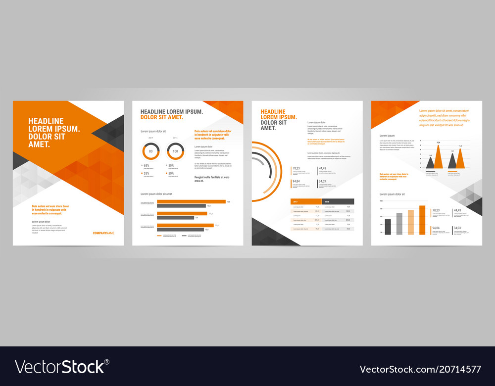 Presentation template design with infographic