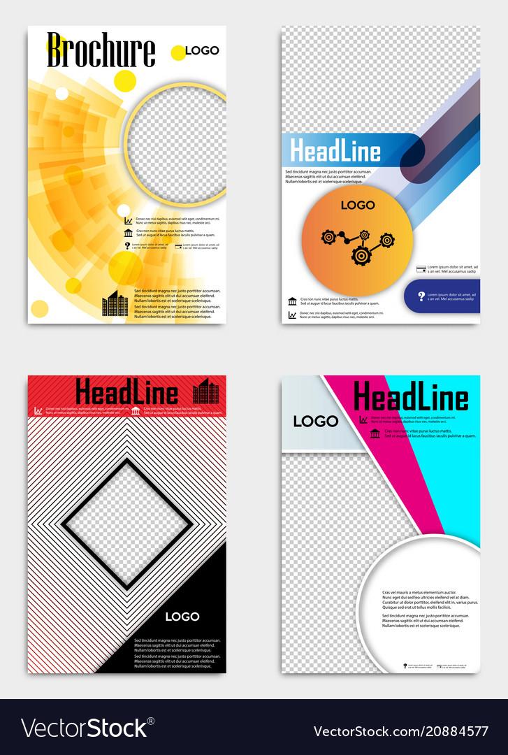 Set of template design layout brochure geometric vector image