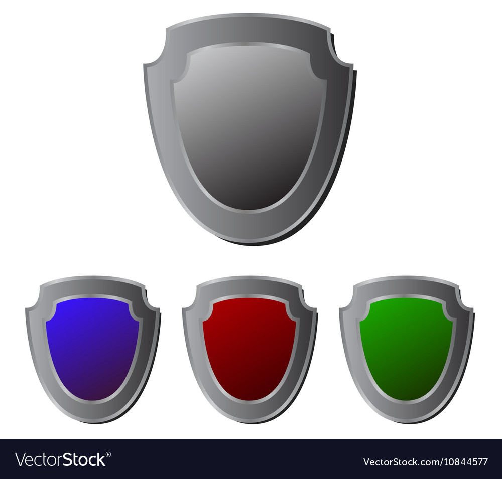 Shields icons vector image