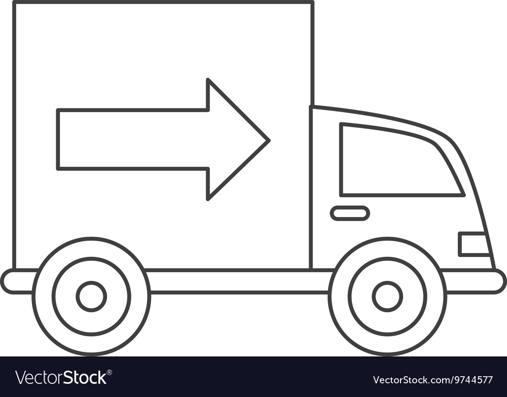 Truck transportation delivery icon