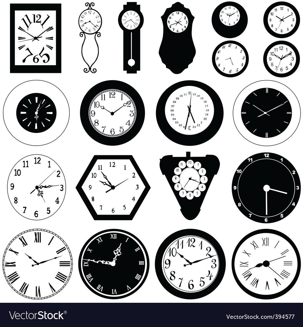 wall clock royalty free vector image vectorstock rh vectorstock com cuckoo clock free vector free clock vector image
