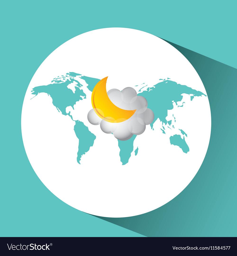 Weather concept forecast cloud halfmoon icon