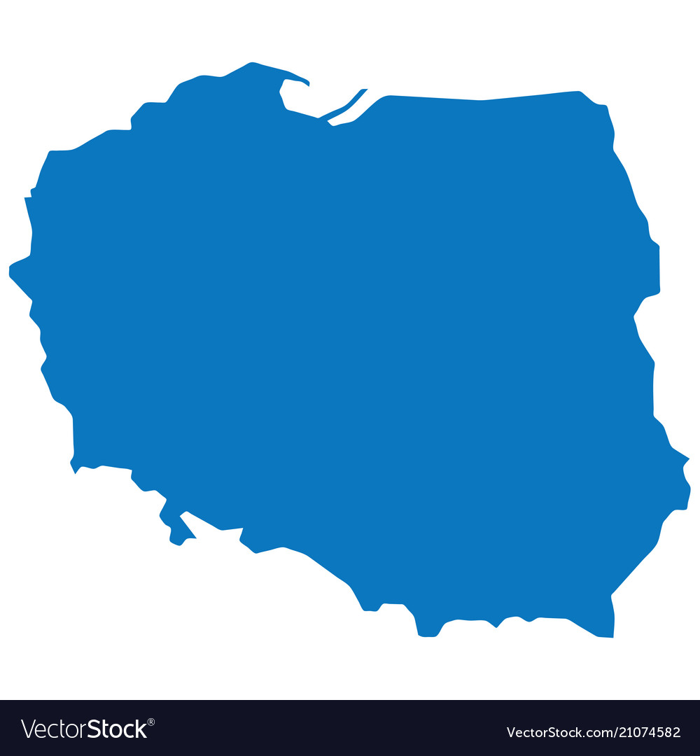 Poland Blank Map Vector Images 27