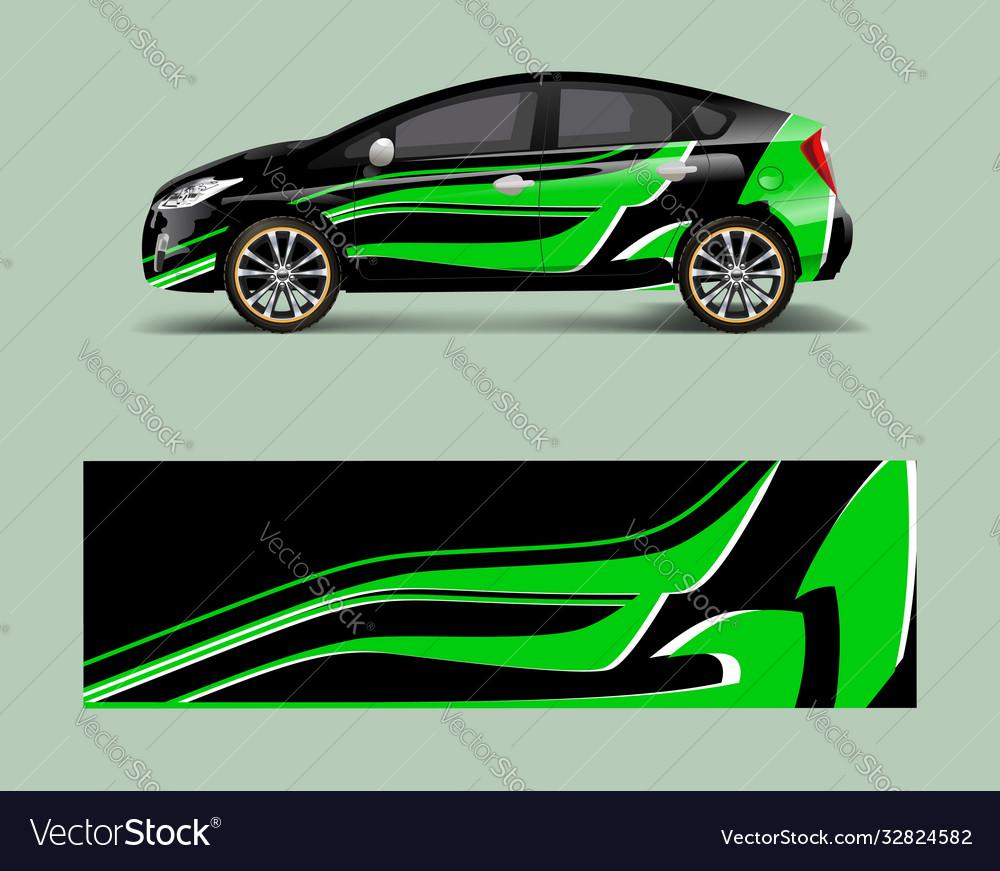 Company branding car decal wrap design graphic