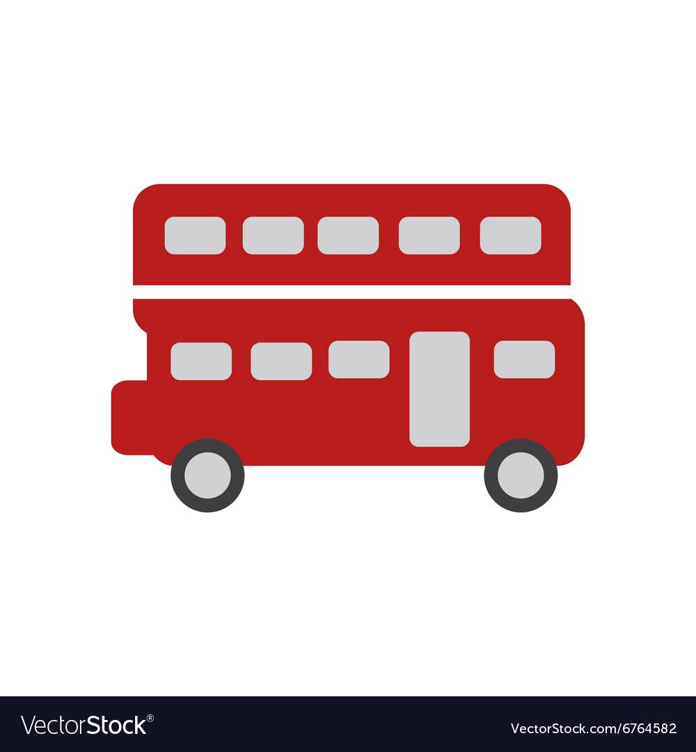 Flat icon on white background double decker bus